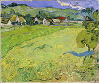 Vincent van Gogh A Group of Houses in a Landscape