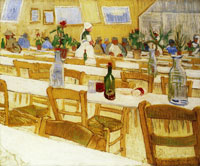 Vincent van Gogh Interior of a Restaurant