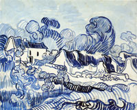Vincent van Gogh Landscape with Cottages