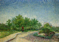 Vincent van Gogh Lane in Voyer-d'Argenson Park at Asnières