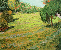 Vincent van Gogh Newly Mowed Lawn with Weeping Tree
