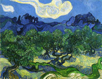 Vincent van Gogh Olive Trees in a Mountain Landscape
