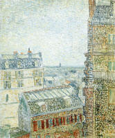 Vincent van Gogh View from Vincent's Window (Rue Lepic)