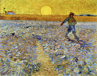 Vincent van Gogh Sower with Setting Sun