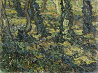 Vincent van Gogh Trunks of Trees with Ivy