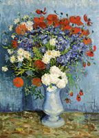 Vincent van Gogh Vase with Cornflowers and Poppies
