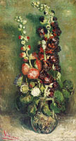 Vincent van Gogh Vase with Hollyhocks