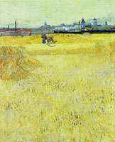 Vincent van Gogh Wheat Field with Sheaves and Arles in the Background