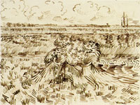 Vincent van Gogh Wheat Field with Sheaves