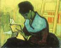 Vincent van Gogh Woman Reading a Novel