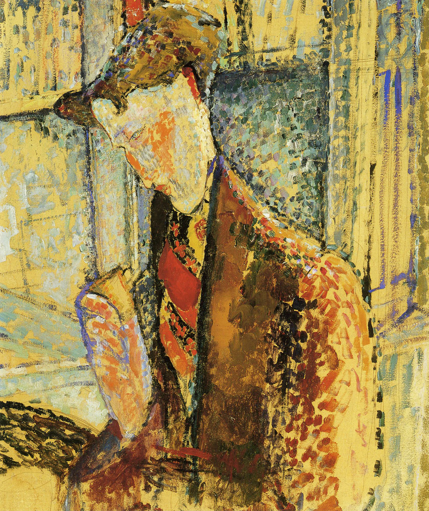Amedeo Modigliani - Reverie (Study for the Portrait of Frank Haviland)