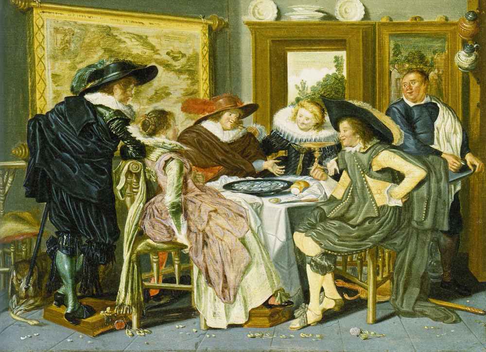 Dirck Hals - Merry Company Eating Oysters