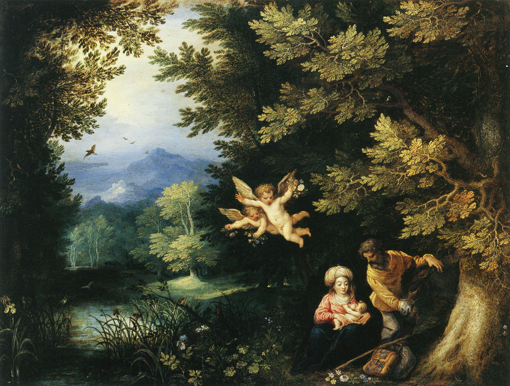 Jan Brueghel the Elder and Hans Rottenhammer - The Rest on the Flight into Egypt