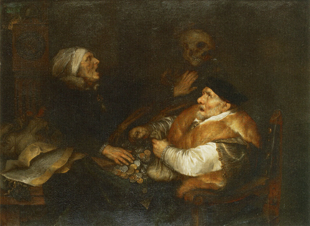 Jan Lievens - A Greedy Couple Surprised by Death