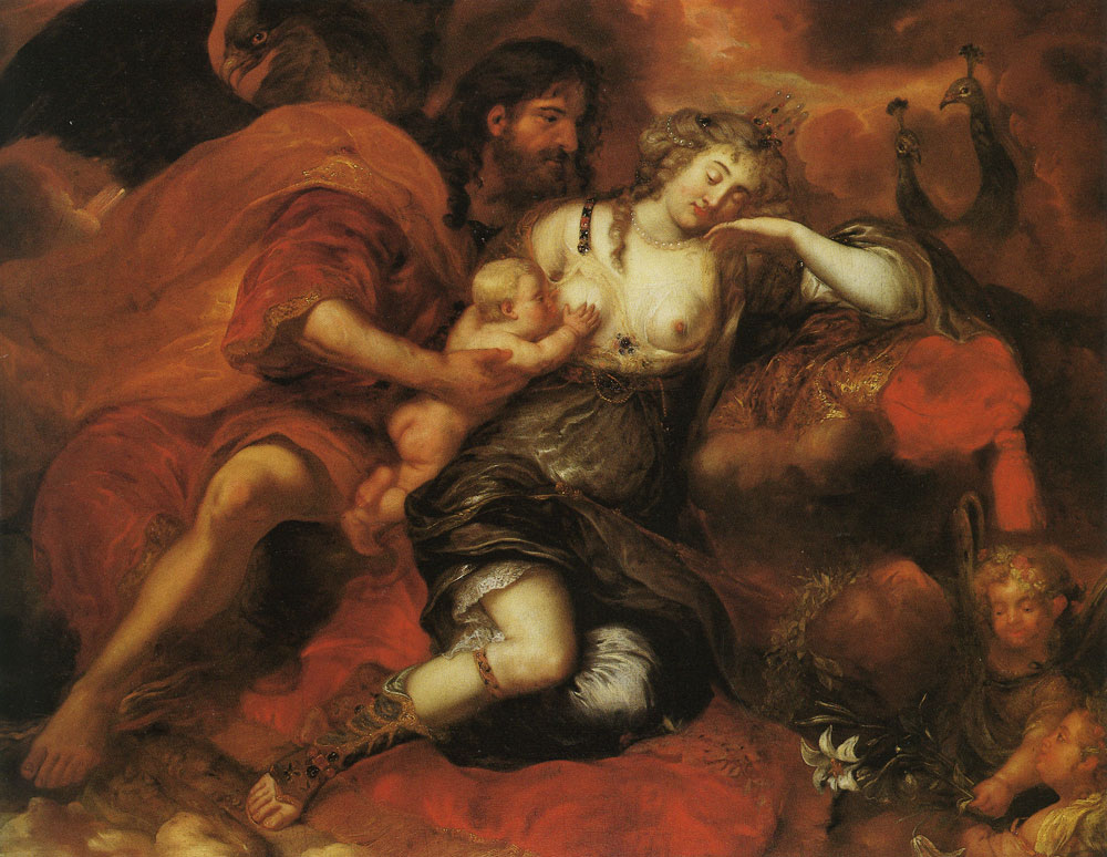 Jürgen Ovens - Zeus and Hera with the New-born Heracles