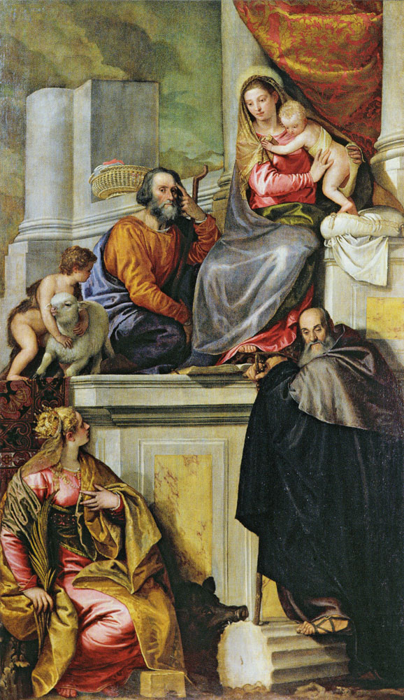 Paolo Veronese - Holy Family with Saint John the Baptist, Saint Anthony Abbot, and Saint Catherine