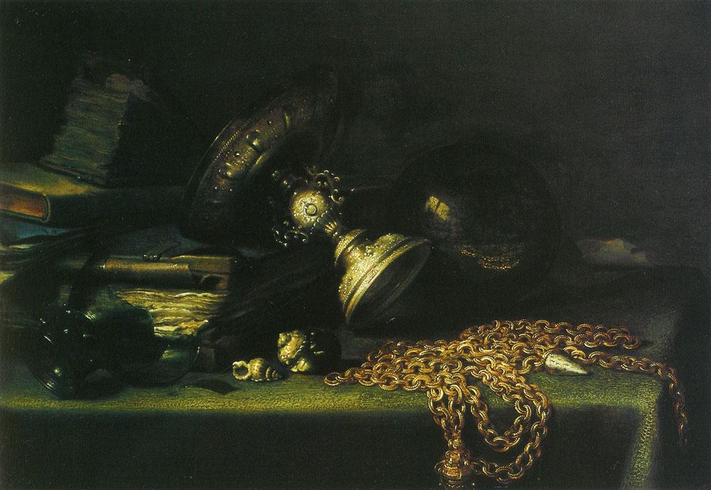 Pieter Claesz. - Still Life with a Gold Chain