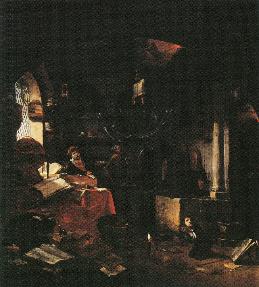 Thomas Wijck - The Alchemist and Death