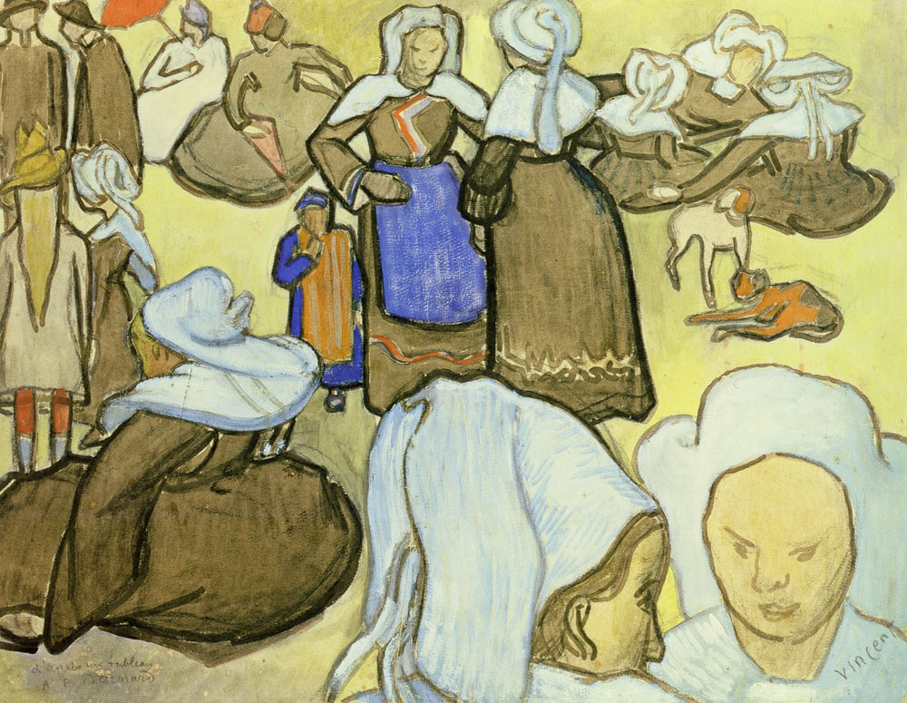 Vincent van Gogh after Emile Bernard - Breton Women