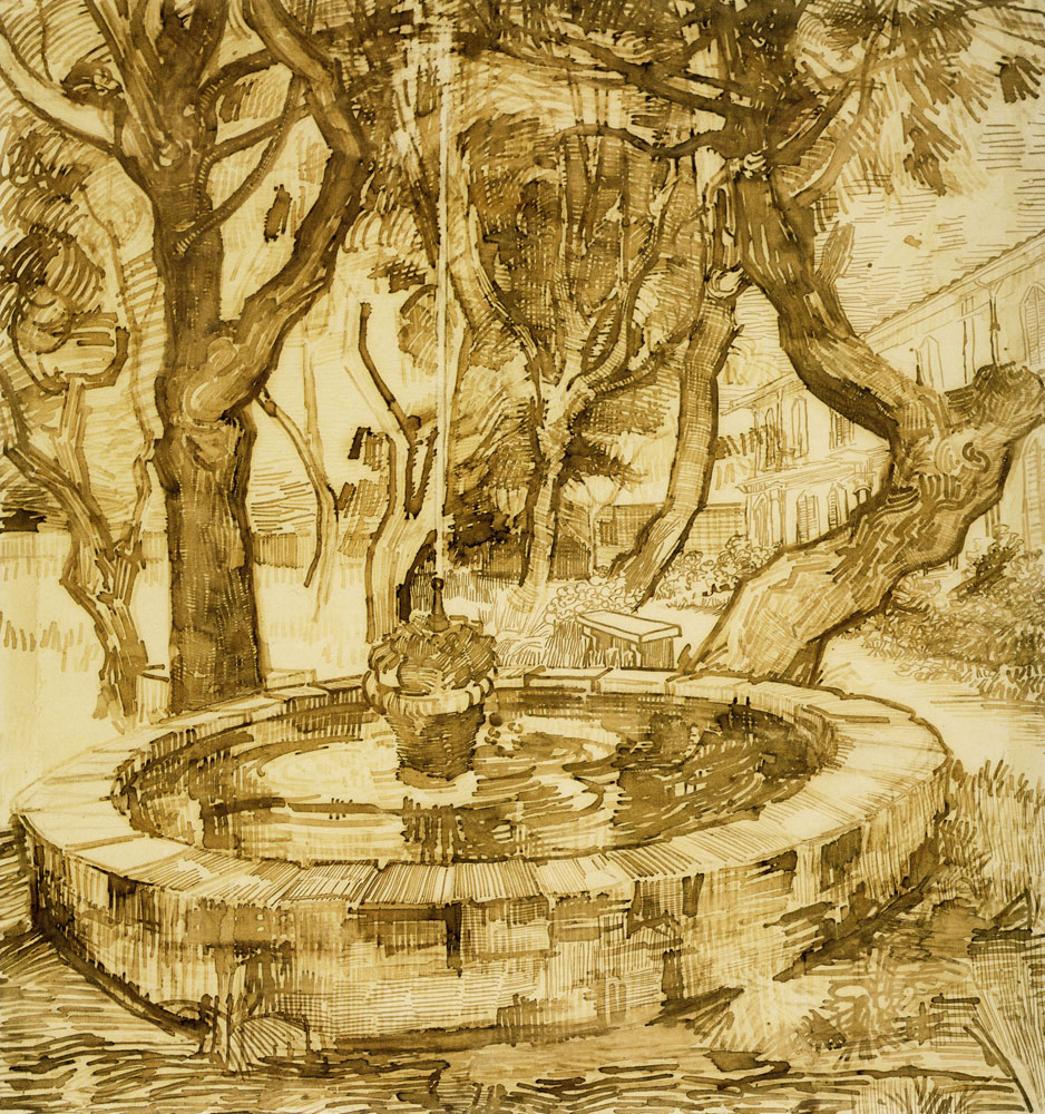 Vincent van Gogh - Fountain in the Garden of the Asylum