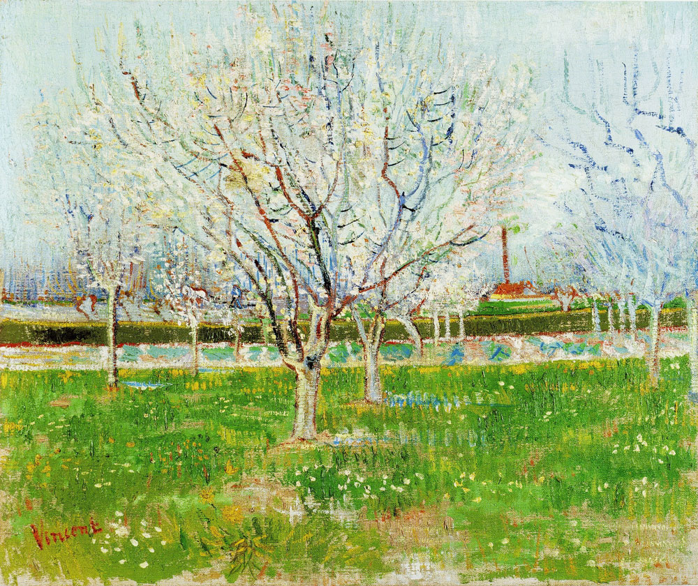 Vincent van Gogh - Orchard in Blossom (Plum Trees)