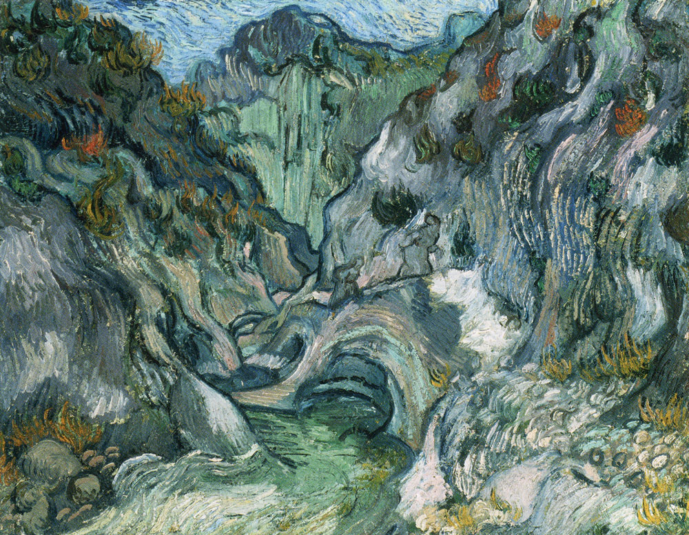 Vincent van Gogh - A Path Through the Ravine