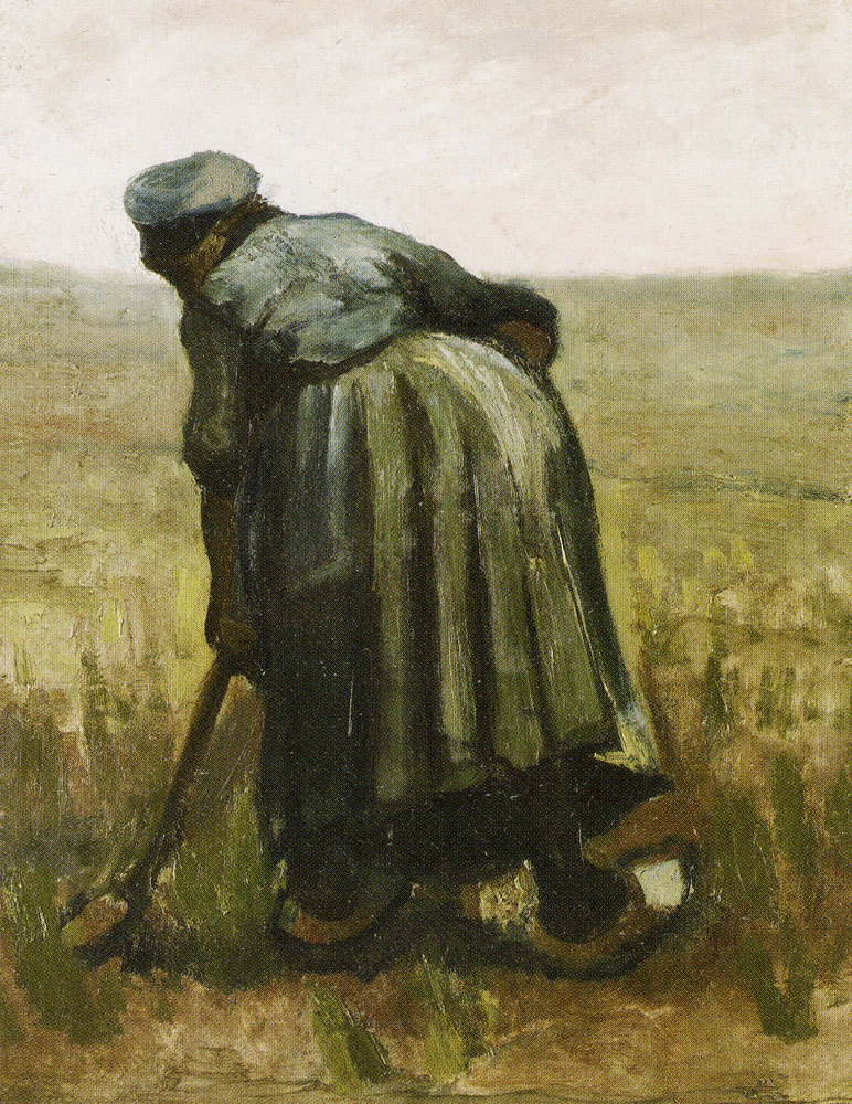 Vincent van Gogh - Peasant Woman, Digging, Seen from the Back