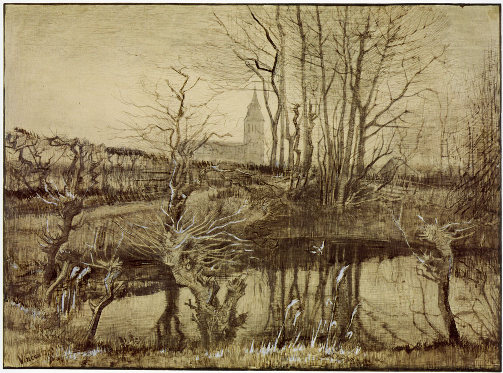 Vincent van Gogh - Pond with a Kingfisher