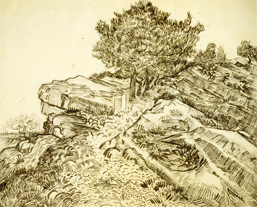 Vincent van Gogh - Rocks with Trees