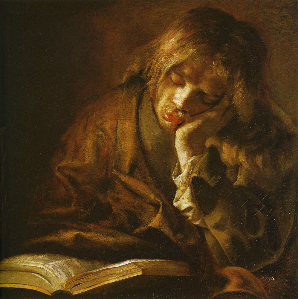 Willem Drost - Young Man Sleeping Over a Book