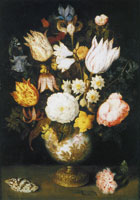 Ambrosius Bosschaert the Elder A Vase of Flowers