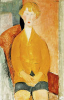 Amedeo Modigliani Boy in Short Pants