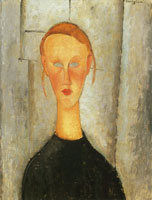 Amedeo Modigliani Girl with Blue Eyes