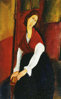 Amedeo Modigliani Jeanne Hébuterne, a Door in the Background