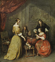 Caspar Netscher The Card Party