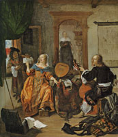 Gabriel Metsu A Musical Party