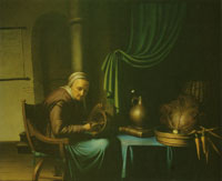 Gerard Dou Old Woman Eating