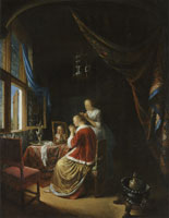 Gerard Dou Woman at her Toilet