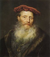 Govert Flinck Bearded Man with a Velvet Cap