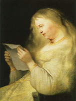 Jan Lievens Bathseba Reading David's Letter