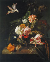Jan Weenix A Vase of Flowers