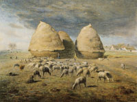 Jean François Millet - The Strawstacks