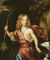 Nicolaes Maes Portrait of a Boy as Adonis