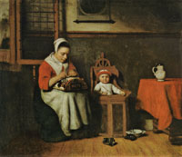 Nicolaes Maes The Lacemaker
