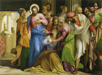 Paolo Veronese Christ Healing a Woman with an Issue of Blood
