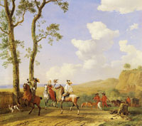 Paulus Potter - The Hunting Party
