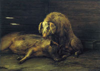 Paulus Potter Two Pigs in a Sty