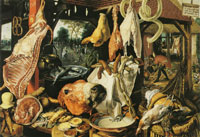 Pieter Aertsen - Meat Pantry of an Inn, with the Virgin Giving Alms