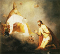 Pieter de Grebber God Inviting Christ to Sit on the Throne at His Right Hand