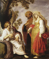 Pieter Lastman The Angel with Manoah and His Wife